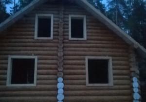 Рубленый дом под Ногинском