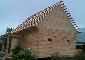 Ярославль. Дом из профилированного бруса 145 на 145 мм.