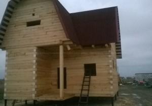 Строительство брусового дома в Санкт Петербурге. Брус 150 на 150 мм.