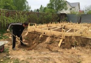 Заливка фундамента в Московской области